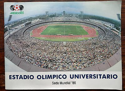 Mexico 1986 World Cup - Olympic Stadium brochure