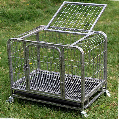 Heavy Duty Metal Tube Dog Puppy Cat rabbit Crate Pet Cage Kennel