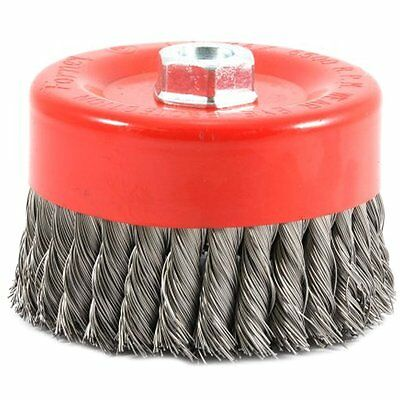 Forney 72756 Wire Cup Brush, Knotted with 5/8-Inch-11 Threaded Arbor,