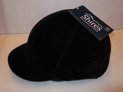 Shires Velveteen Stretch Hat Cover. Navy,Black Brown. Small and Large