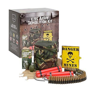 KAS Kids Army Camouflage Demolition Kit - Includes Toy Bullet Belt Fake Dynamite