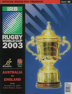 England v Australia - Rugby Union World Cup Final - 22 November 2003 - MINT