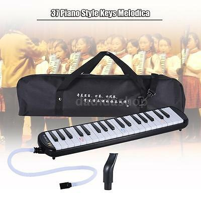 QIMEI 37 Piano Style Keys Melodica Musical Education Instrument Black U8T7