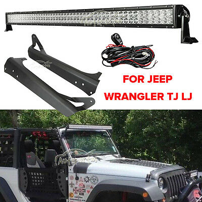 "Mounting Brackets Set For Jeep Wrangler TJ 1997-2006 52/"" 700W LED Light Bar"