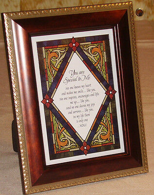 """6"""" X 8"""" Framed You Are Special to Me Table Top Blessing"""