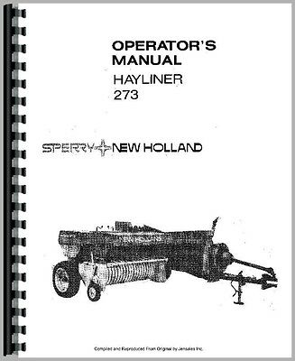 New holland 275 Baler manual
