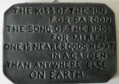 Kiss of the Sun Garden Plaque - Handmade by Pixieland (Concrete)