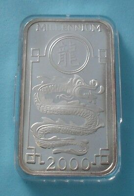 1998/2000 Korea 250 Won Millennium Silver Proof Coin Year Of The Dragon