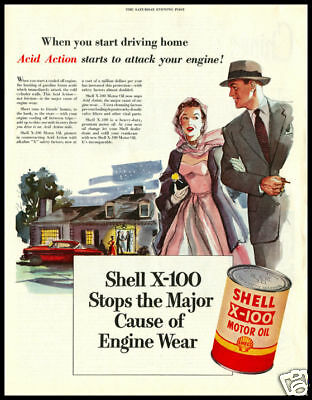 1953 vintage ad for Shell Motor oil