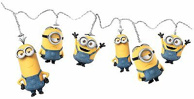 Childrens Bedroom Minions Characters 2.8 Metre Battery Powered String Lights