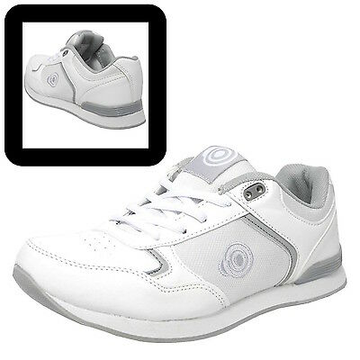 "DEK Ladies ""Kitty"" Lace Up White Lawn Bowls Trainers Bowling Shoes"