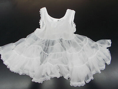 Infant & Toddler Girls Puff Nylon w/ Lace Slip Sizes 6 Months - 4T
