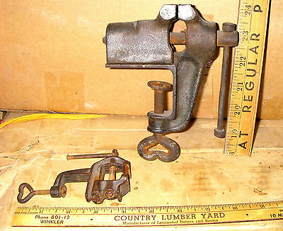 Antique blacksmith watchmaker jeweler bench vise anvil collectible tool CLAMP ON