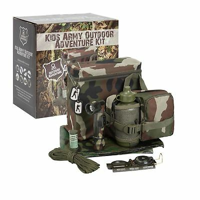 KAS Kids Army Outdoor Adventure Kit - Camouflage Den Kit - Army Roleplay