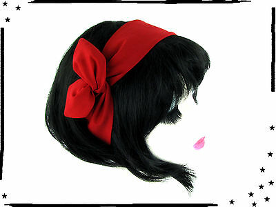 Draht Haarband uni rot  Rockabilly  Pin up Retro