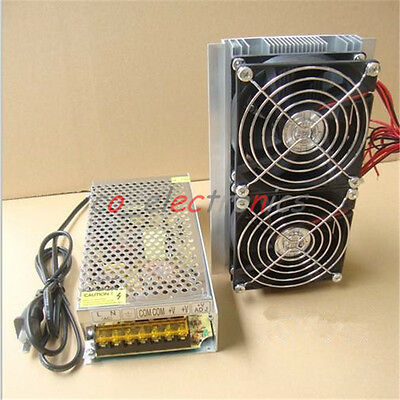 Thermoelectric Peltier Refrigeration Cooling System Radiator Cooler+Power Supply