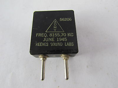 1 Piece Reeves Sound Labs Radio Crystal  8155.70 kc - Lot #2