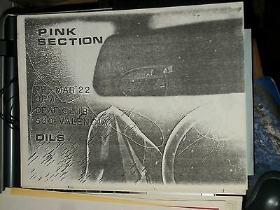 Pink Section Dils Rare 1979 Deaf Club San Francisco Show Flyer Mint Condition