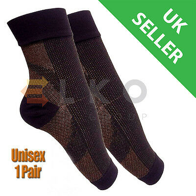 Elko® Plantar Fasciitis Copper Infused Compression Ankle Socks Swelling Relief