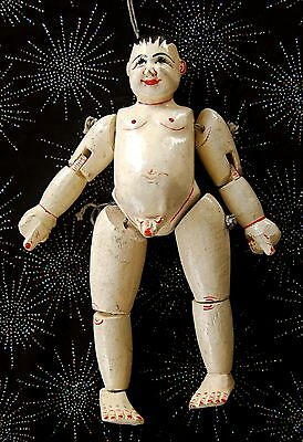 Antique Jointed Wood Doll Asian Doll Jointed Male Doll Man Doll Eclectic Cool