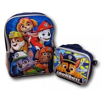 """Nickelodeon Paw Patrol 16"""" Backpack with Detachable Insulated Lunch Bag"""