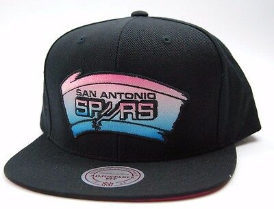 San Antonio Spurs Mitchell & Ness VS28Z NBA Basketball Team Snapback Cap Hat