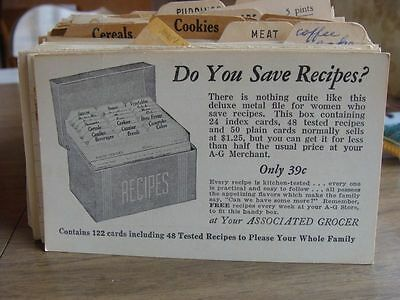 Vintage Recipe Cards Some Handwritten Some Newspaper Clippings Gas Company 100