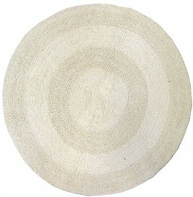Just Contempo Round Cotton Bath Mat, Cream