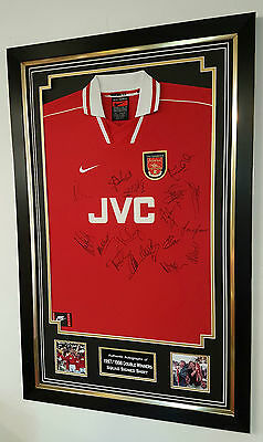 *** Rare 1998 Double Winners of Arsenal Signed Shirt Autograph Display ***