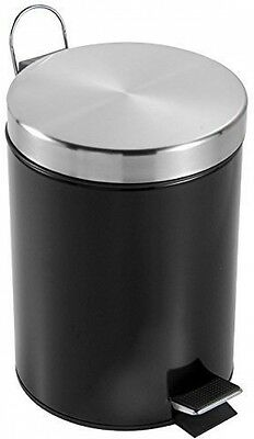 Home Discount Bathroom Kitchen Bin 3 Litre Stainless Steel Waste Rubbish Pedal