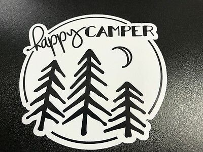 Happy Camper Trees - Sticker