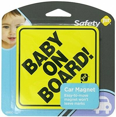 Safety 1st Baby On Board Sign Magnet 4 x 4 in,Car Window Signs,Classic Sign New