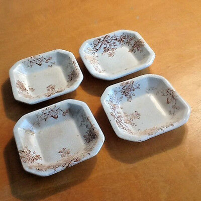 4 Antique England M. L. & Co.  Butter Pats  RICHMOND Pale Pink Design