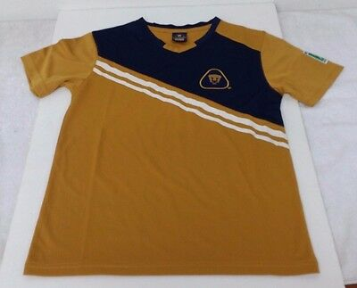 231b60a86fa Pumas UNAM Gold & Navy Blue Color Youth Short Sleeve Jersey By Rhinox
