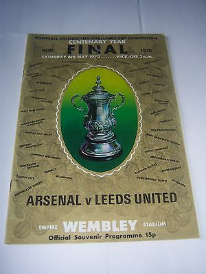 1972 FA CUP FINAL - ARSENAL v LEEDS UNITED - FOOTBALL PROGRAMME