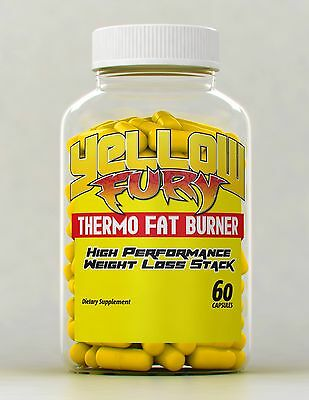 Yellow Fury 50 Caps - World's Strongest Fat Burner