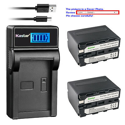 Kastar Battery Charger for Sony NP-F330 NP-F550 NP-F750 NP-F960 LED Video Light