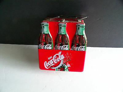 Coca Cola 6 pack bottle carrying case Lunch Box/Tin