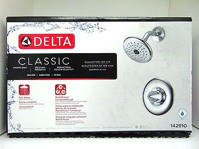 Delta Classic Chrome 1-Handle Watersense Shower Head and Handle Kit 142910