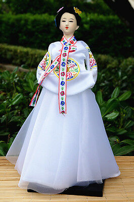 Ancient Korea KImono Girl Doll Court Hanbok Dress Tradtional Beautiful -29