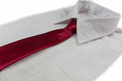 *CHEAP* DARK RED TIE Boys Kids Baby Toddler School Ties FORMAL WEDDING SALE