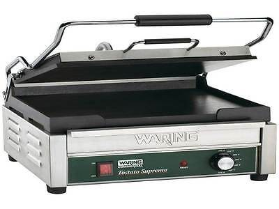New! Waring WFG250 Tostato Supremo Large Smooth Top & Bottom Panini Grill