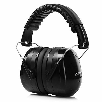 Mpow Safety Ear Muffs Shooter Hearing Protection  34dB NRR Noise Reducer Black