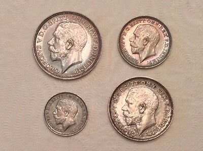 - Great Britain 1911 George V Maundy Set  - Choice Proof like Surfaces