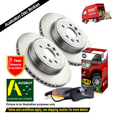 FOR TOYOTA Hilux RZN169 RZN174 289mm 11/97-10/02 FRONT Disc Rotors & 4X4 Pads