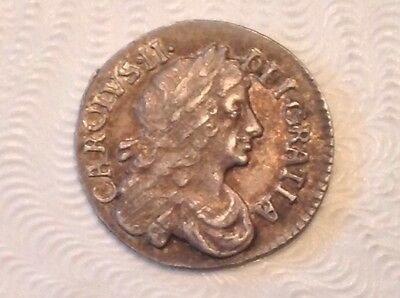- 1679 Great Britain Charles II Silver Maundy  Twopence 2 Two Pence