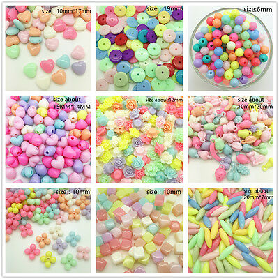 DIY Various Styles Multicolour Acrylic  Pearl Loose Beads Jewelry Making Craft C
