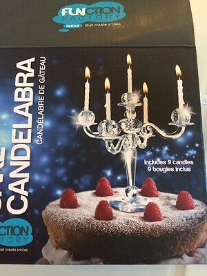 New Bling Candelabra Cake Decor Topper Candle Holder Princess Birthday Wedding