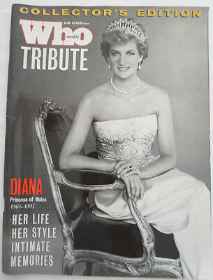 Who weekly Magazine Tribute  DIANA collector's edition.  (Princess Diana)