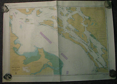 Nautical Chart Canada BC East Point to Sand Heads 1981 #3450